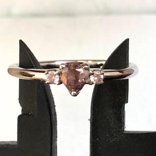 天然 珍しいの色 パープル ピンクダイヤ リング(リング(指輪))