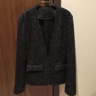 スーツカンパニー(THE SUIT COMPANY)のスーツカンパニーで購入 メランジツイードジャージジャケット😊美品試着のみ(ノーカラージャケット)