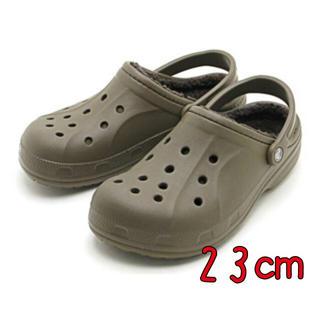 crocs - 新品 23㎝ クロックス ウインター クロッグ  ウォールナット ボア付き