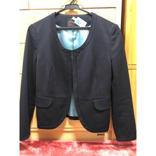 トゥモローランド(TOMORROWLAND)のお値下げ【tomorrowland】ブラック ジャケット(ノーカラージャケット)