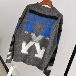 【Off-White】★COLOR BRUSHED モヘア KNIT★