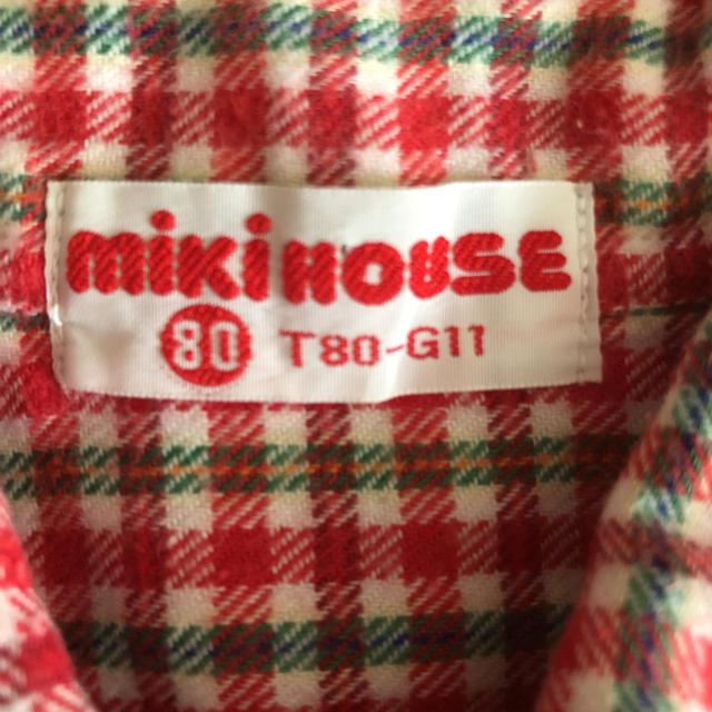 mikihouse(ミキハウス)のミキハウス  チェックシャツ 80㎝ キッズ/ベビー/マタニティのベビー服(~85cm)(シャツ/カットソー)の商品写真