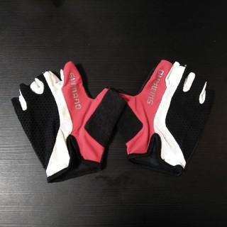 シマノ(SHIMANO)の【値下げ】SHIMANO(シマノ) サイクリンググローブ 赤×黒 グローブ(ウエア)