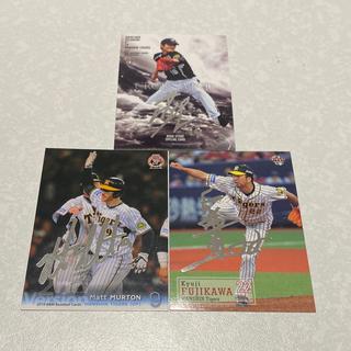 ハンシンタイガース(阪神タイガース)のBBM 阪神タイガース 銀箔サインカード4枚セット(シングルカード)
