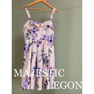 マジェスティックレゴン(MAJESTIC LEGON)のMAJESTICLEGON 肩ひも花柄ワンピース(ミニワンピース)