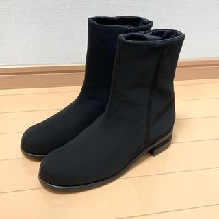 ワコール(Wacoal)のワコール💛新品💛雪雨OKショートブーツ黒① 24.5 EEE(ブーツ)
