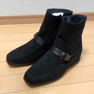 ワコール(Wacoal)のワコール💛新品💛雪雨OKショートブーツ黒② 24.5 EEE(ブーツ)