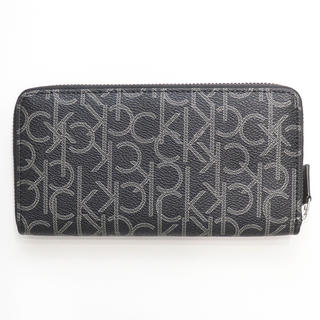 Calvin Klein - 新品 カルバンクライン 二つ折り ラウンド 長財布 ロゴモノグラム 札入れ 財布