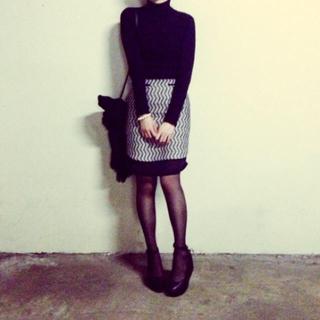 マメ(mame)の週末値下げ mame 13aw タイトスカート サイズ1(ひざ丈スカート)