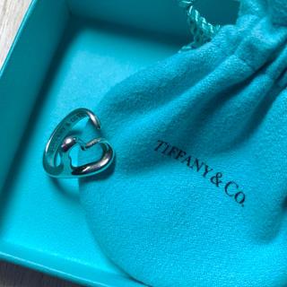 ティファニー(Tiffany & Co.)のティファニー オープンハート リング(付属巾着袋入)(リング(指輪))