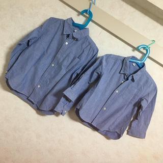 ムジルシリョウヒン(MUJI (無印良品))の無印良品 子供ワンシャツ 2枚セット(ブラウス)