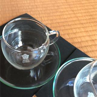 マリークワント(MARY QUANT)のMARY QUANTのコーヒーカップ2セット・ガラス(マリークワントノベリティ)(グラス/カップ)