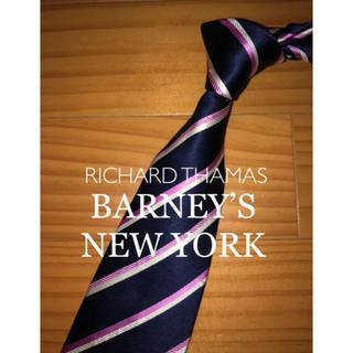 バーニーズニューヨーク(BARNEYS NEW YORK)の美品 リチャードトーマス ネイビーストライプ(ネクタイ)