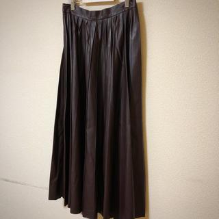 ザラ(ZARA)のMari様専用 ZARA レザースカート (ロングスカート)