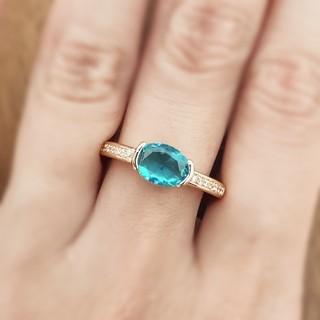 アクアマリン*ゴールドリング   Tiffany& Co.好きに❇(リング(指輪))