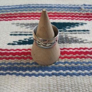Indian - インディアンジュエリー ナバホ族 スタンプワーク シルバーリング 指輪 925