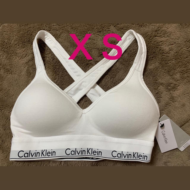 Calvin Klein(カルバンクライン)のCalvin Klein ブラトップ白 レディースの下着/アンダーウェア(ブラ)の商品写真