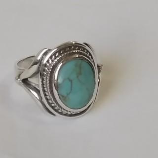 ヴィンテージ インディアン ターコイズ リング シルバー925(リング(指輪))