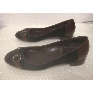 Hutte ブラック ハラコ ビット ローファー ペタンコ スクエアトゥ (ローファー/革靴)