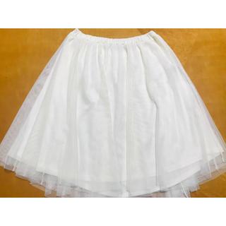 ハニーズ(HONEYS)のHoneys 白 チュールスカート(ひざ丈スカート)
