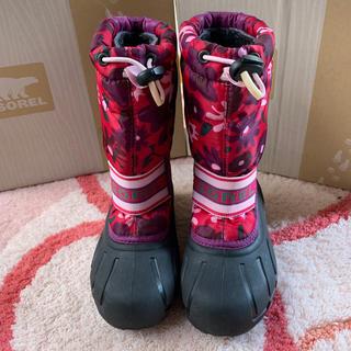 ソレル(SOREL)のSORELソレル☆スノーブーツ18cm花柄かわいい美品(ブーツ)