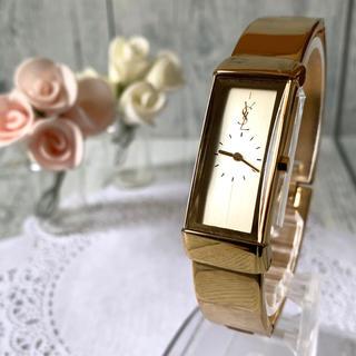 Saint Laurent - 【電池交換済み】Yves Saint Laurent 腕時計 バングル 金