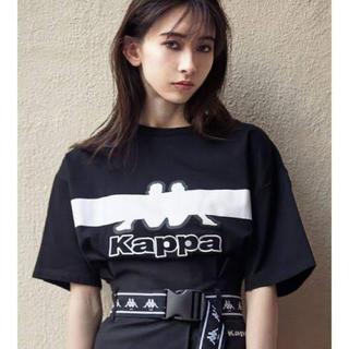 エモダ(EMODA)のEMODA × kappa ラインマークTシャツ(Tシャツ(半袖/袖なし))