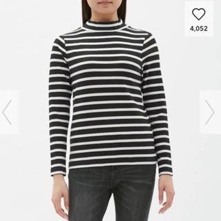 ジーユー(GU)のGU gu   ジーユー ボーダーハイネック長袖Tシャツ(Tシャツ(長袖/七分))