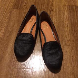 アーバンリサーチ(URBAN RESEARCH)の限定値下げ❗️ブラック ハラコシューズ(ローファー/革靴)