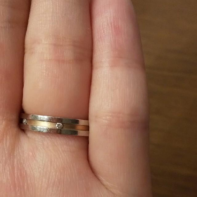 NINA RICCI(ニナリッチ)の黒ko様専用プラチナ ピンクゴールド リング ニナリッチ レディースのアクセサリー(リング(指輪))の商品写真