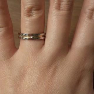 ニナリッチ(NINA RICCI)の黒ko様専用プラチナ ピンクゴールド リング ニナリッチ(リング(指輪))