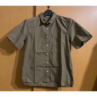 ジーユー(GU)のGU 半袖シャツ ブラウス カーキ(シャツ/ブラウス(半袖/袖なし))