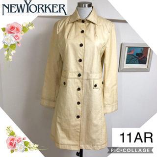 ニューヨーカー(NEWYORKER)のニューヨーカー(11AR)優しいお色の撥水コーティングトレンチコート(トレンチコート)