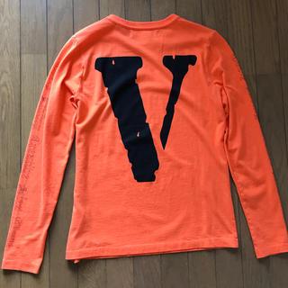 オフホワイト(OFF-WHITE)のOFF-WHITE × Vlone 限定コラボTシャツ  XS オフホワイト(Tシャツ/カットソー(七分/長袖))