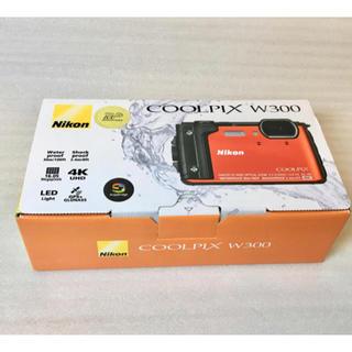 ニコン(Nikon)のNICON  COOLPIX W300 オレンジ 新品未使用(コンパクトデジタルカメラ)
