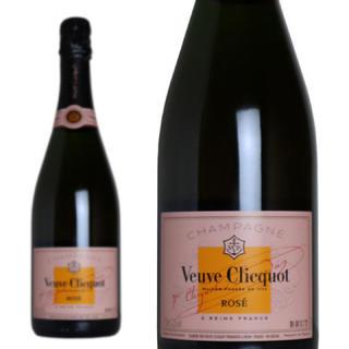 モエエシャンドン(MOËT & CHANDON)のヴーヴ クリコ ローズラベル 新品送料無料(シャンパン/スパークリングワイン)