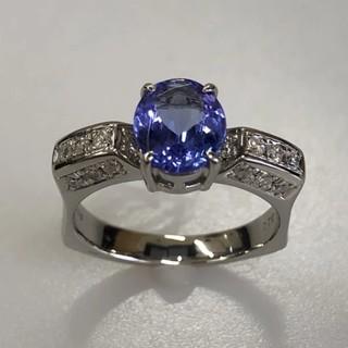カルティエ(Cartier)の限定 PT900 タンザナイトリング 1.58ct ダイヤ0,33#15 (リング(指輪))