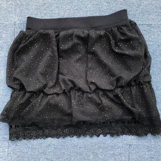 スカート フレアスカート レーススカート(ひざ丈スカート)