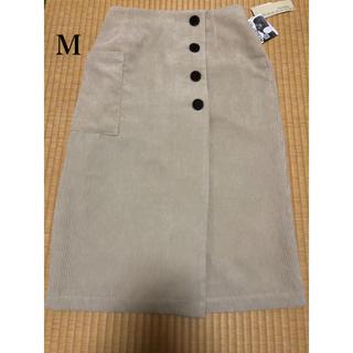 シマムラ(しまむら)のプチプラのあや AYAコールナロースカート70 Mサイズ 中白(ロングスカート)