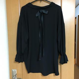 ノアンヌ 後リボン 絞り袖ブラウス XLサイズ(シャツ/ブラウス(長袖/七分))
