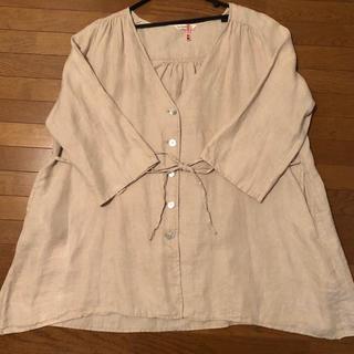 サマンサモスモス(SM2)の【お値下げ】SM2  リネン 羽織り(ノーカラージャケット)
