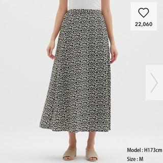 ジーユー(GU)のGU フラワープリント スカート (ロングスカート)