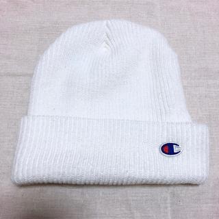 チャンピオン(Champion)のChampion ニット帽 (白)(ニット帽/ビーニー)