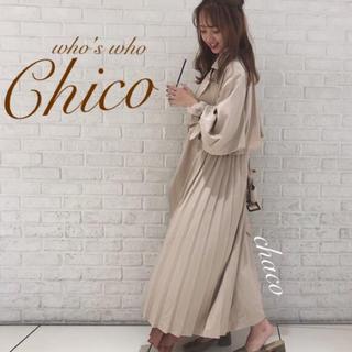 フーズフーチコ(who's who Chico)の新作🍂¥14080【Chico】サイドプリーツトレンチコート ライナーつき(ロングコート)