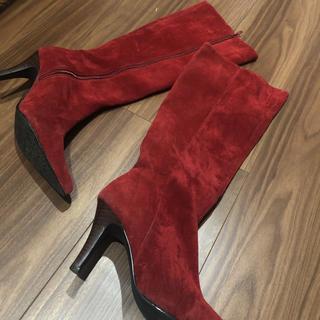 ロデオクラウンズ(RODEO CROWNS)のロデオクラウンズ 赤ロングブーツ(ブーツ)