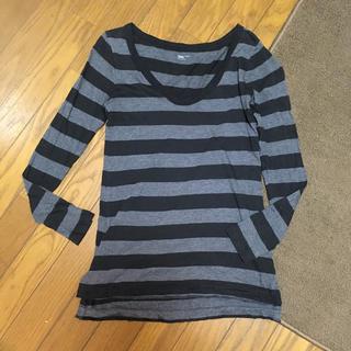 ギャップ(GAP)のGAP ボーダーVネック長袖Tシャツ xxs(Tシャツ(長袖/七分))