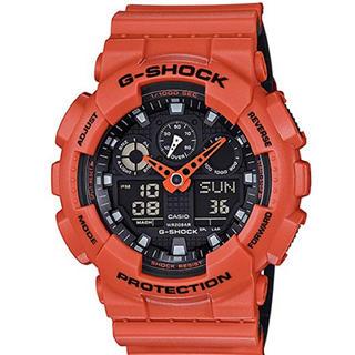 ジーショック(G-SHOCK)のG-SHOCK ジーショック オレンジ ブラック メンズ GA-100L-4A (腕時計(デジタル))
