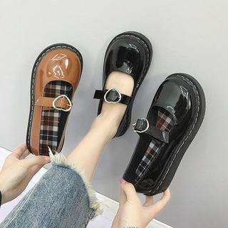 新作 原宿   レトロ  可愛い ハート柄 靴 ブーツ 全二色(ブーツ)