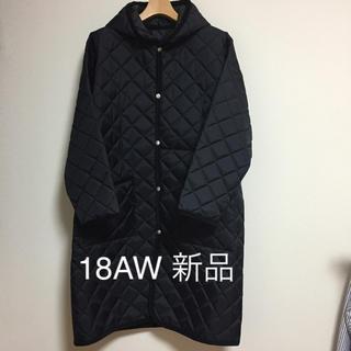 コモリ(COMOLI)の18AW 新品 COMOLI ラベンハム オーバーコート 黒 サイズ1(ステンカラーコート)