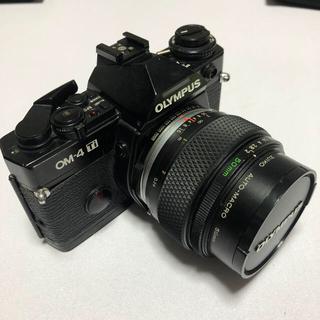 オリンパス(OLYMPUS)のOLYMPUS OM-4Ti ボディ 50mm f2 マクロ レンズ(フィルムカメラ)